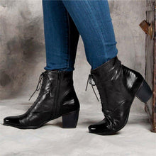 Load image into Gallery viewer, Women Casual Daily Lace Up Zipper Ankle Boots
