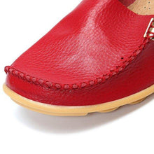 Load image into Gallery viewer, Flat Heel Artificial Leather Loafers& Flats