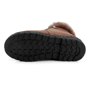 Women Winter Casual Warm Lining Slip On Boots