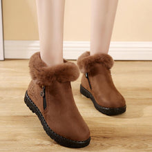Load image into Gallery viewer, Women Winter Casual Warm Lining Slip On Boots