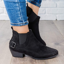 Load image into Gallery viewer, Casual Faux Suede All Season Side Buckle Ankle Booties