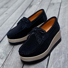 Load image into Gallery viewer, Women Artificial Nubuck Casual Lace Up Creepers