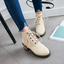 Load image into Gallery viewer, Women's Chunky Heel Vintage Lace Boots