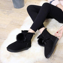 Load image into Gallery viewer, Women's Daily Fur Suede Winter Snow Boots  Low Heel
