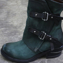 Load image into Gallery viewer, Dark Green Winter Daily Split Joint Chunky Heel Boots