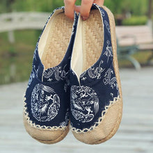 Load image into Gallery viewer, Vintage Cotton Flax Mule Slippers