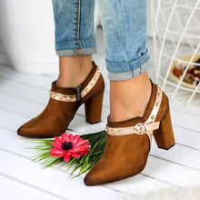 Load image into Gallery viewer, Women Comfy Chunky Heel Zip Ankle Booties