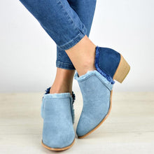 Load image into Gallery viewer, Plus Size Comfy Outside Denim Ankle Booties