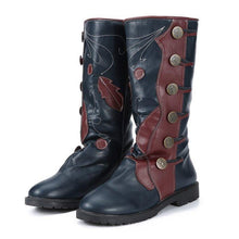 Load image into Gallery viewer, Plus Size Vintage Leather Zipper Flat Heel Mid Fall Boots