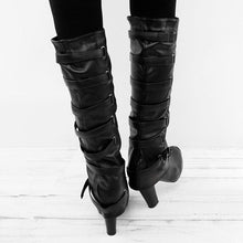 Load image into Gallery viewer, Large Size Vintage Casual High Heel Boots