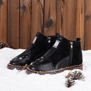 Women Casual Ankle Boots Zipper Shoes
