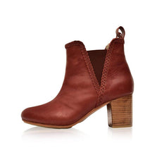 Load image into Gallery viewer, Woman Stitching Split Joint Chunky Heel Round Toe Ankle Boots