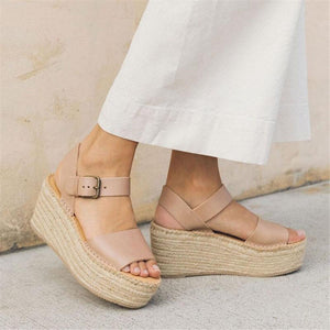 Fashion Simple Casual Woven Wedge Sandals
