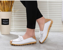 Load image into Gallery viewer, Women flats shoes 2020 fashion casual lace-up genuine leather flats femal shoes zapatos mujer spring summer shoes woman
