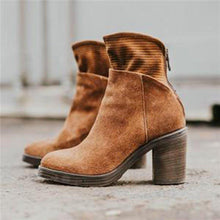 Load image into Gallery viewer, Woman Solid Block Chunky Heel Round Toe Ankle Boots