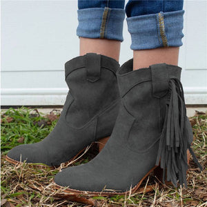 Women Casual Daily Faux Suede Ankle Boots