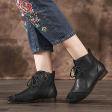 Load image into Gallery viewer, Daily Pu Low Heel Ankle Boots