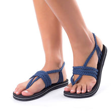 Load image into Gallery viewer, Women Comfortable Flip Flops Braided Sandals