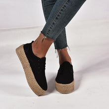 Load image into Gallery viewer, Plus Size Espadrille Comfy Pu Round Toe Flat Loafers