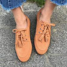 Load image into Gallery viewer, Plus Size Tassel Suede Flat Heel Slip On Loafers