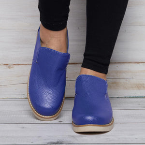 Comfy Sole Pu Loafers Women Slip On Shoes