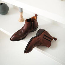 Load image into Gallery viewer, Vintage Ankle Boots  Pu Booties