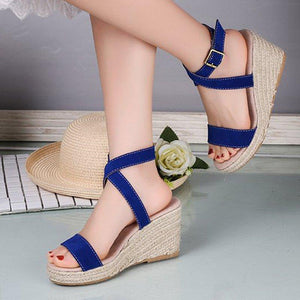 Women Espadrille Wedge Casual Sandals