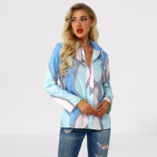 Load image into Gallery viewer, Plus Size 4xl 5xl 2020 Autumn Women Leisure Blouse Tops Chain Print Office Ladies Blouse Shirt Long Sleeve Blusas Mujer De Moda