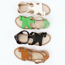 Load image into Gallery viewer, Women Micro Leather Adjustable Buckle Casual Plus Size Sandals