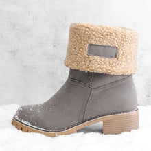 Load image into Gallery viewer, Women Warm Skylar Fur Heel Square Heels Ankle Snow Boots/Booties