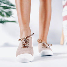 Load image into Gallery viewer, Plus Size Athletic Suede Flat Heel Lace Up Sneakers