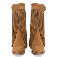Load image into Gallery viewer, Round Toe Low Heel Women Boots