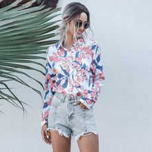 Load image into Gallery viewer, Womens Tops and Blouses For Women 2020 Spring Summer New Arrivals Long Sleeve Print Shirt Ladies Casual Blouse Pink Yellow