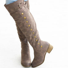 Load image into Gallery viewer, Women Casual Out Door Buckle Tall Boots
