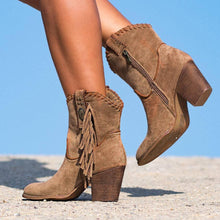 Load image into Gallery viewer, Daily Suede Chunky Heel All Season Boots