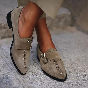 Fashion Pointed Toe Women Low Heel Plain Boots