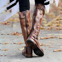 Load image into Gallery viewer, Women's Vintage Leather Knight Boots