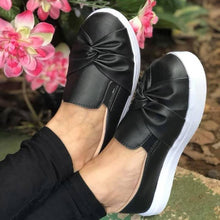 Load image into Gallery viewer, Woman Bowknot Solid Casual Platform Flats Sneakers Loafers