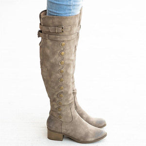 Women Casual Out Door Buckle Tall Boots