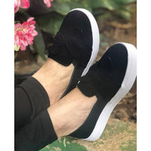 Load image into Gallery viewer, Woman Bowknot Solid Casual Velvet Sneakers Flats Loafers
