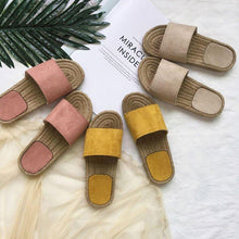 Load image into Gallery viewer, Women Holiday Casual Comfy Straw Slippers