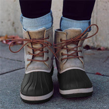 Load image into Gallery viewer, Women Casual Lace-Up Comfy Flat Heel Waterproof Boots