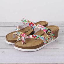 Load image into Gallery viewer, Printed Flip-Flops Beach Slippers Buckle Summer Pu Slippers