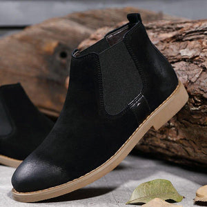 Woman Casual Low Heel Split Joint Round Toe Ankle Boots