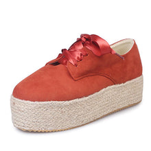 Load image into Gallery viewer, Espadrilled Lace Up All Season Suede Sneakers