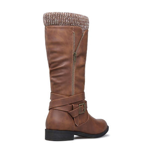 Winter Knitted Fabric Boots