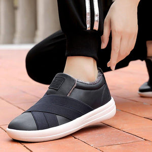 Warm Athletic Style Slip-on Flat Sneakers