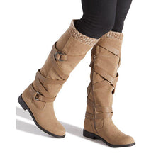 Load image into Gallery viewer, Women Winter Button Sweater Knit Boots