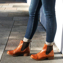 Load image into Gallery viewer, Office Slip On Chunky Heel Ankle Boots