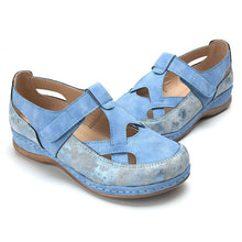 Load image into Gallery viewer, Hollow Out Comfortable Cross Strap Closed Toe Flat Casual Shoes